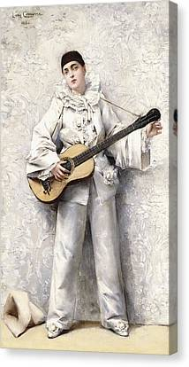 Pierrot Canvas Print by Leon Francois Comerre
