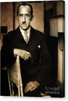 Piet Mondrian, Artist By Mary Bassett Canvas Print by Mary Bassett