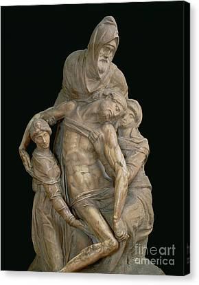 Pieta, 1553 Canvas Print by Michelangelo