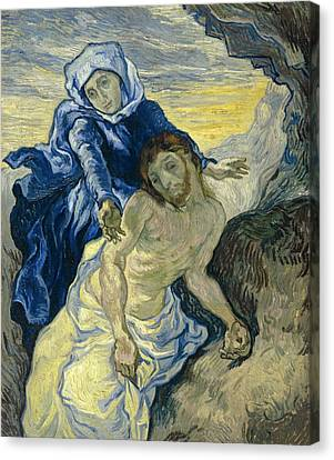 Pieta, After Delacroix Canvas Print by Vincent van Gogh