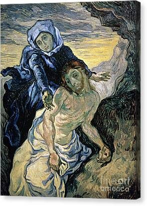 Pieta Canvas Print by Vincent van Gogh