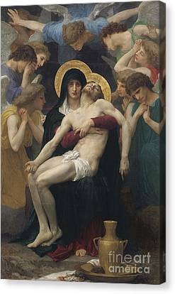 Sadness Canvas Print - Pieta by William-Adolphe Bouguereau