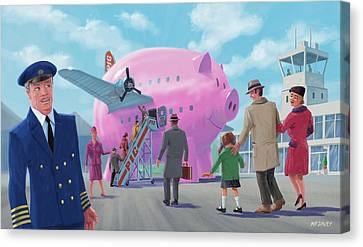 Canvas Print - Pig Airline Airport by Martin Davey