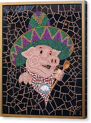 Pig In Sombrero Canvas Print by Gila Rayberg