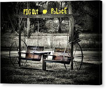 Pig Out Palace Canvas Print by Karen Scovill