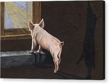 Swine Canvas Print - Free Me by Twyla Francois