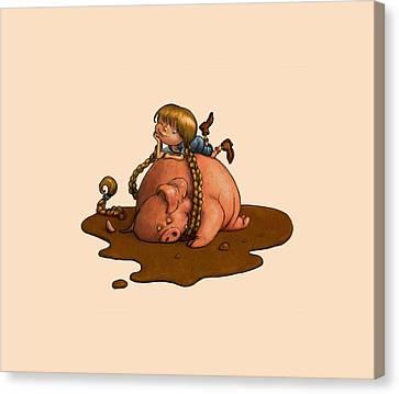 Pig Tales Canvas Print