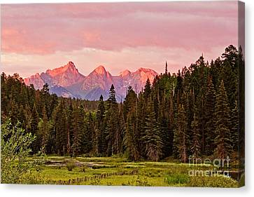 Pigeon And Turret Peaks Canvas Print by Scott Pellegrin