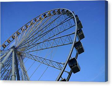 Pigeon Forge Wheel Canvas Print by Laurie Perry