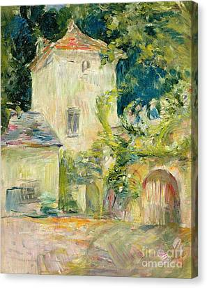 Pigeon Loft At The Chateau Du Mesnil Canvas Print by Berthe Morisot