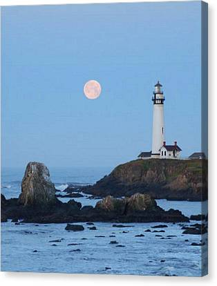 Pigeon Point At Moonset Canvas Print