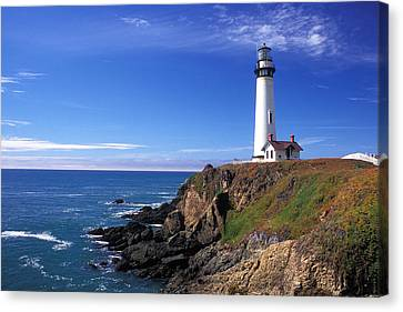 Pigeon Point Lighthouse 2 Canvas Print by Kathy Yates