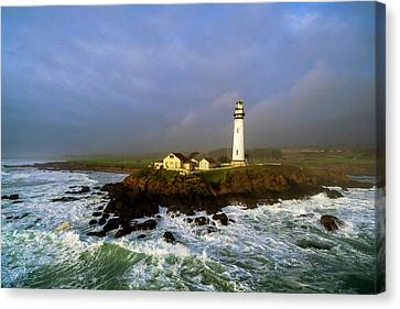 Canvas Print featuring the photograph Pigeon Point Lighthouse by Evgeny Vasenev