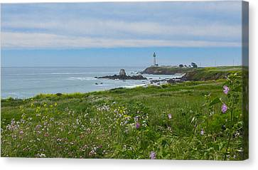 Pigeon Point Lighthouse Canvas Print by Mark Barclay