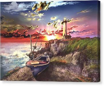 Coast Guard Canvas Print - Pigeon Point Lighthouse by Bekim Art