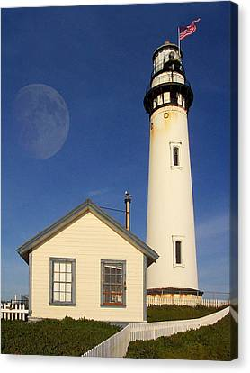 Pigeon Point Lighthouse Canvas Print by Wingsdomain Art and Photography