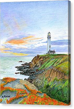 Pigeon Point Sunset Canvas Print by Mike Robles