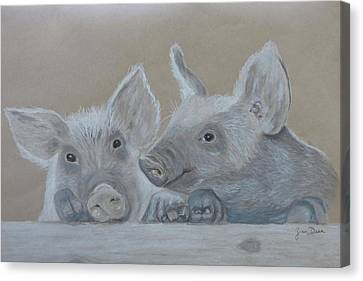 Piglet  Friends Canvas Print by Zina Dean