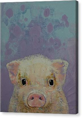 Piglet Canvas Print by Michael Creese