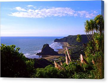 Piha Panorama Canvas Print by Kevin Smith