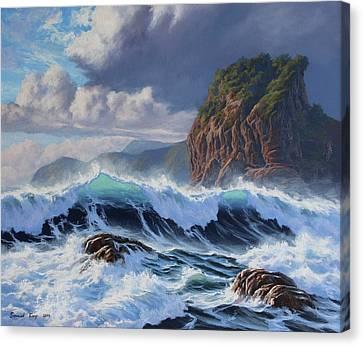 Aotearoa Canvas Print - Piha Wild Sea by Samuel Earp