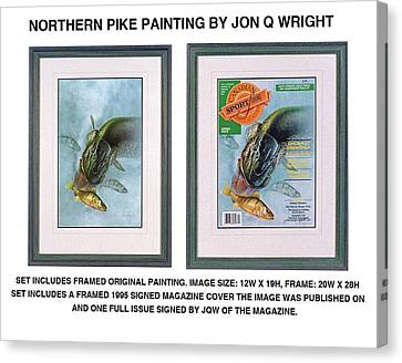 Magazine Art Canvas Print - Pike And Perch by JQ Licensing