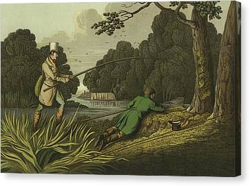 Pike Fishing Canvas Print by Henry Thomas Alken