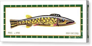 Canvas Print - Pike Ice Fishing Decoy by Jon Q Wright