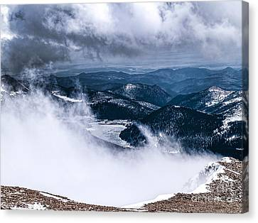 Canvas Print featuring the photograph Pikes Peak by Anthony Baatz