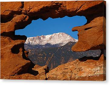 Pike's Peak Frame Canvas Print by Jon Holiday