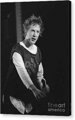 Pil Johnny Came On Stage Canvas Print by Philippe Taka