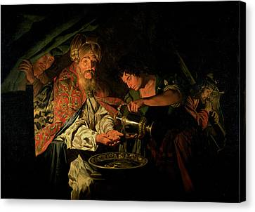 Pilate Washing His Hands Canvas Print by Stomer Matthias