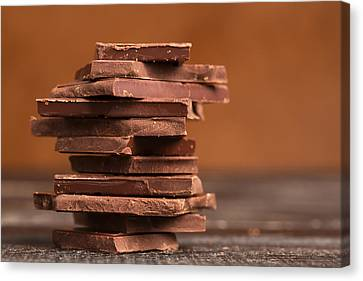Pile Of Dark Chocolate  Canvas Print