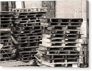 Pile Of Pallets Canvas Print by Adriana Zoon