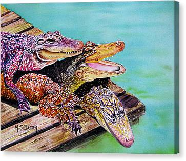 Pile Up Canvas Print by Maria Barry
