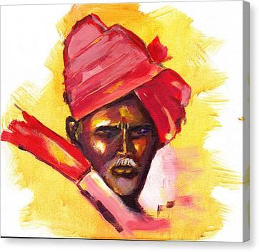 Pilgrim Canvas Print by Anil Nene