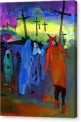 Pilgrimage Canvas Print by Miki De Goodaboom