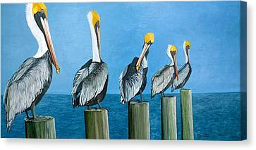 Piling On Canvas Print by Jon Ferrentino
