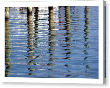 Canvas Print featuring the photograph Pilings Beaufort Nc by Phil Mancuso