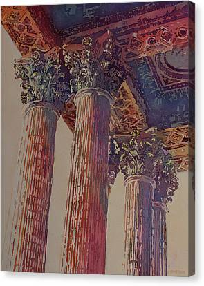 Pillars Of The Humanities Canvas Print by Jenny Armitage