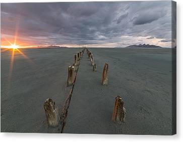 Great Salt Lake Canvas Print - Pillars by Peter Irwindale