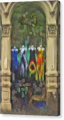 Canvas Print featuring the digital art Piller Dresses by Dale Stillman