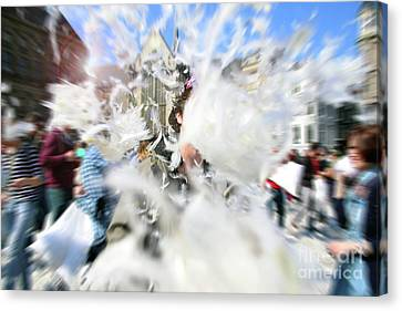 Pillow Fight Canvas Print