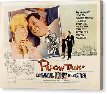 Posth Canvas Print - Pillow Talk, Doris Day, Rock Hudson by Everett