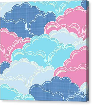 Pillows In The Sky Canvas Print by Elizabeth Tuck