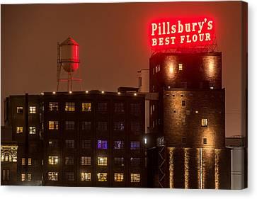 Pillsbury Canvas Print - Pillsburys Best Flour Sign by Paul Freidlund