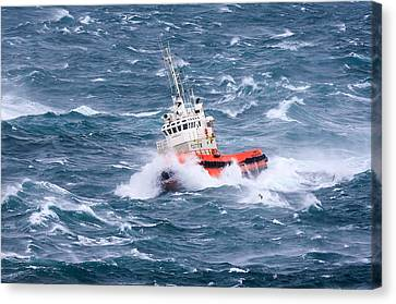 Pilot Boat Canvas Print by Ingi T. Bjornsson