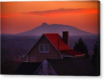 Pilot Sunset Overlook Canvas Print by Kathryn Meyer