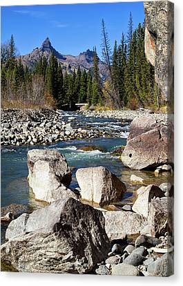 Pilots Peak And Clark Fork 2 Canvas Print by Shirley Mitchell