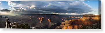 Canvas Print featuring the photograph Pima Point Panorama by Beverly Parks
